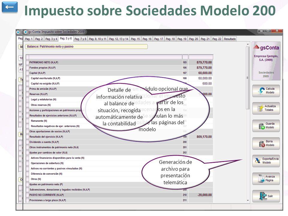 Impuesto sobre Sociedades Modelo 200