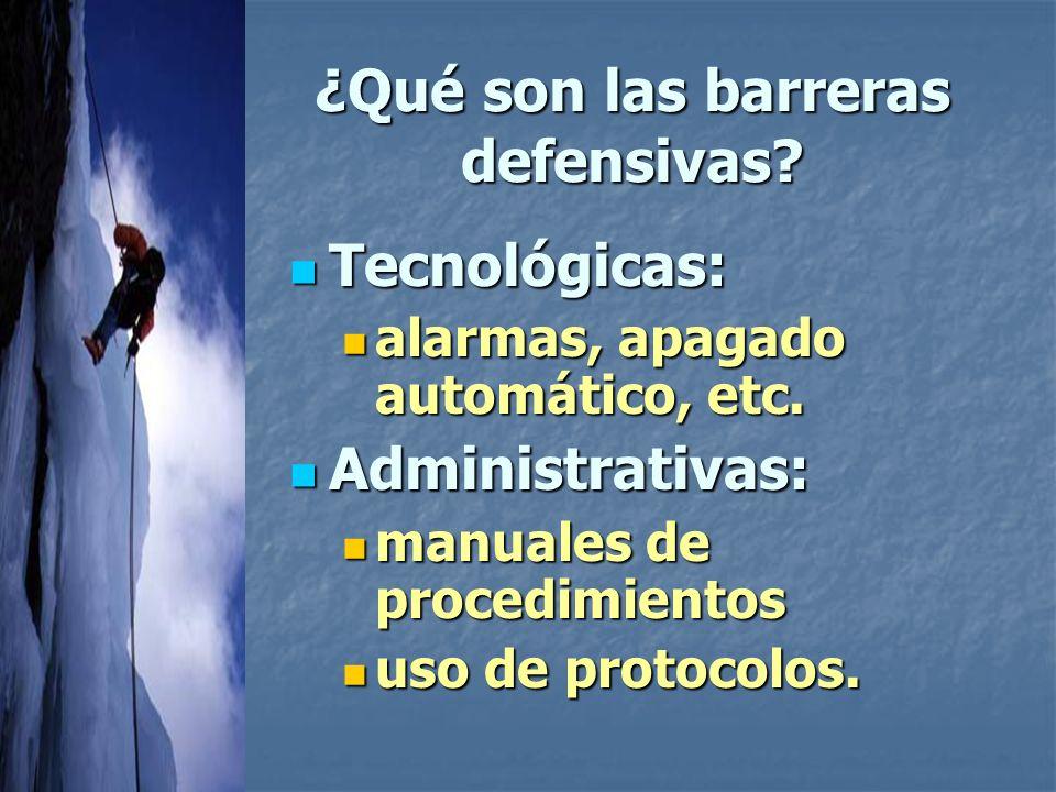 ¿Qué son las barreras defensivas