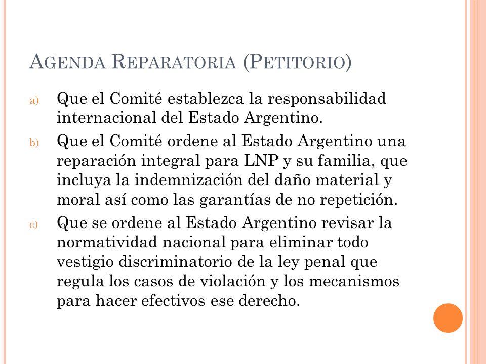 Agenda Reparatoria (Petitorio)