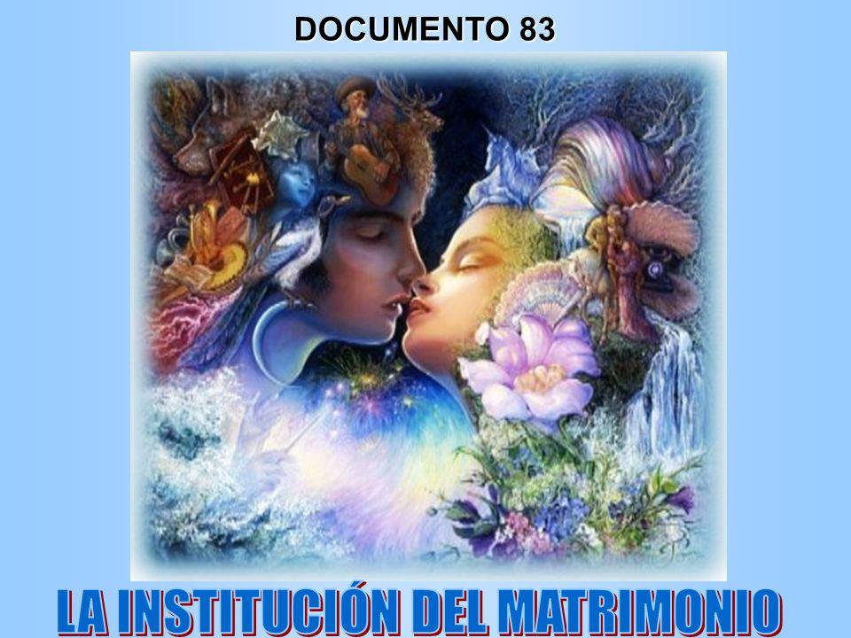 LA INSTITUCIÓN DEL MATRIMONIO