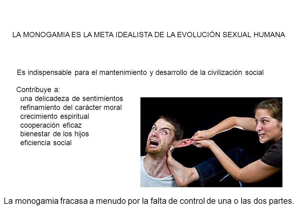 LA MONOGAMIA ES LA META IDEALISTA DE LA EVOLUCIÓN SEXUAL HUMANA