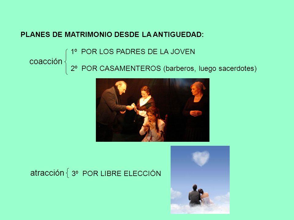 coacción atracción PLANES DE MATRIMONIO DESDE LA ANTIGUEDAD: