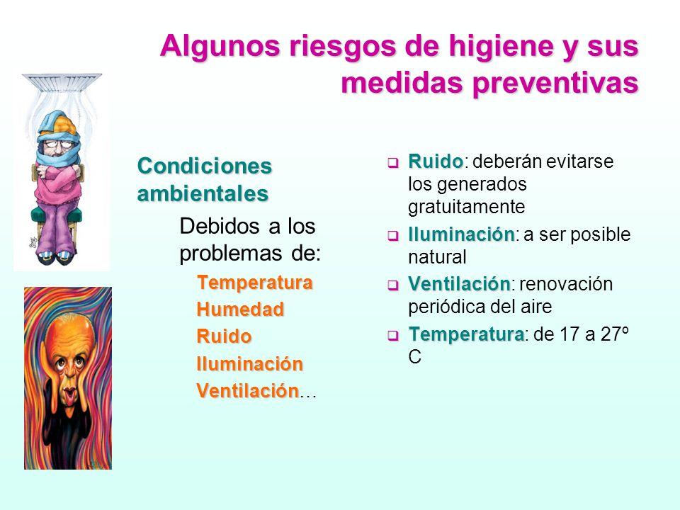 Algunos riesgos de higiene y sus medidas preventivas