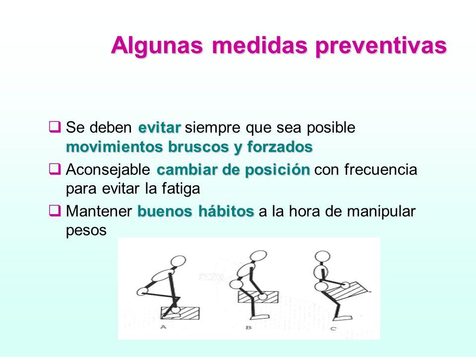 Algunas medidas preventivas