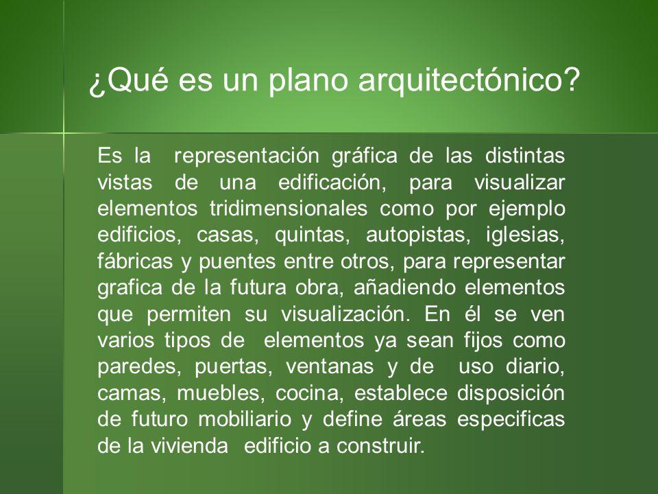 Representaci n de planos constructivos generalidades ppt for Elementos de un plano arquitectonico