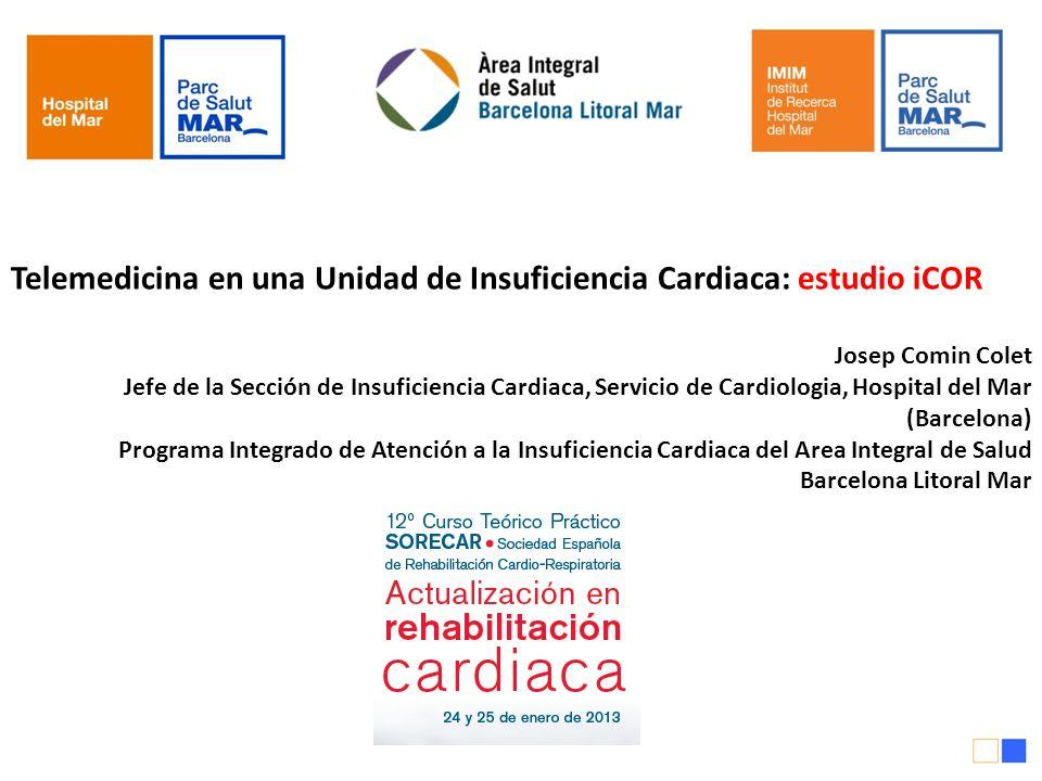 Telemedicina en una Unidad de Insuficiencia Cardiaca: estudio iCOR