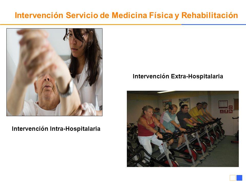 Intervención Servicio de Medicina Física y Rehabilitación