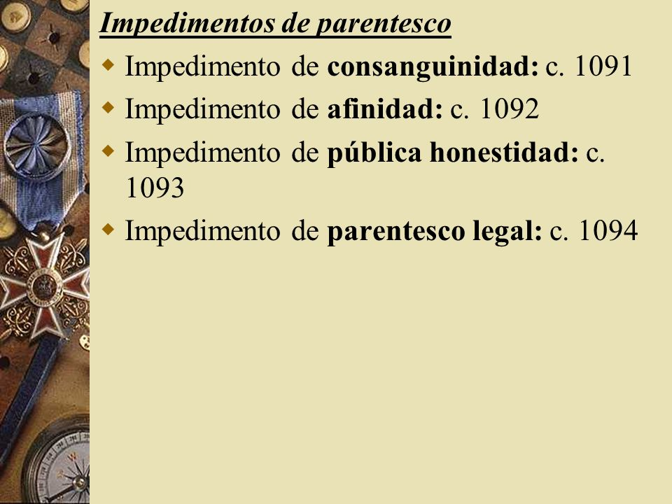 Impedimentos de parentesco