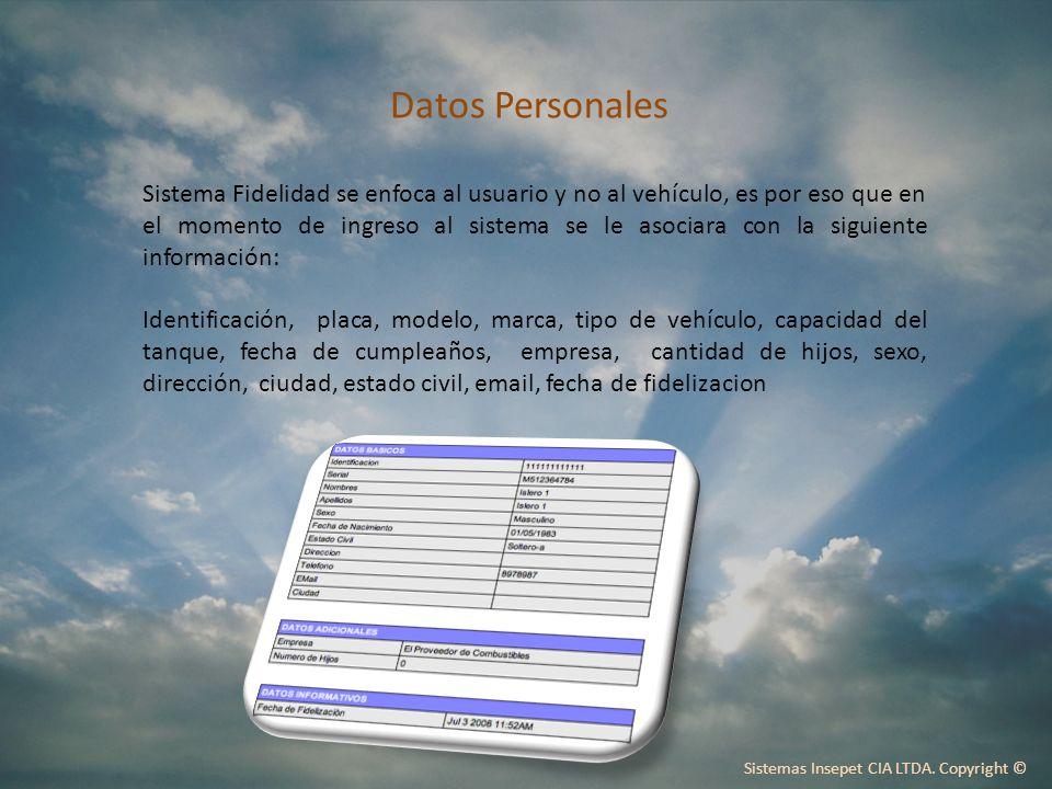 Sistemas Insepet CIA LTDA. Copyright ©