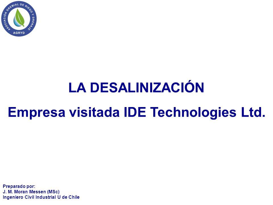 Empresa visitada IDE Technologies Ltd.