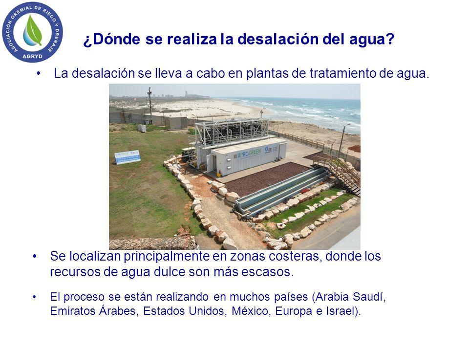 ¿Dónde se realiza la desalación del agua