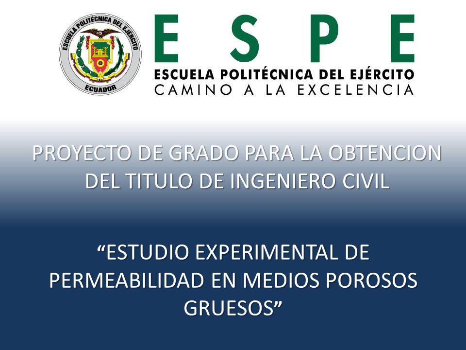PROYECTO DE GRADO PARA LA OBTENCION DEL TITULO DE INGENIERO CIVIL