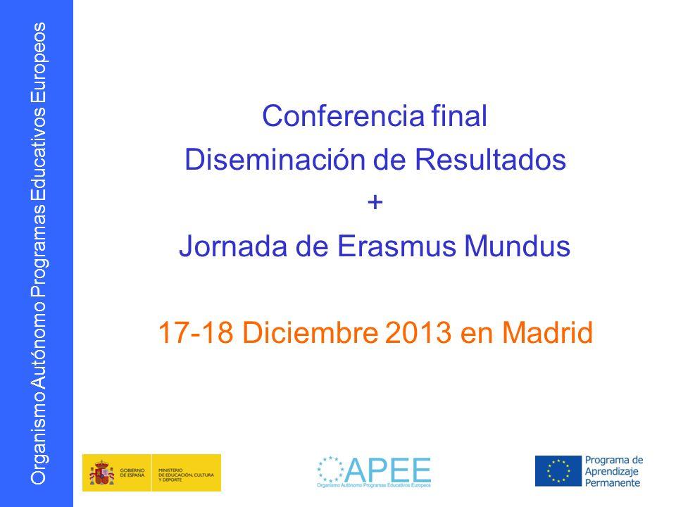 Diseminación de Resultados + Jornada de Erasmus Mundus