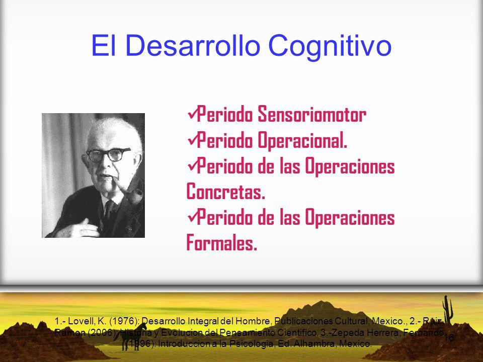 El Desarrollo Cognitivo