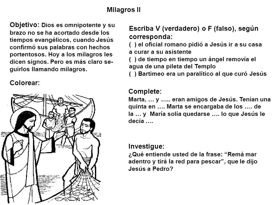 Objetivo: Dios es omnipotente y su