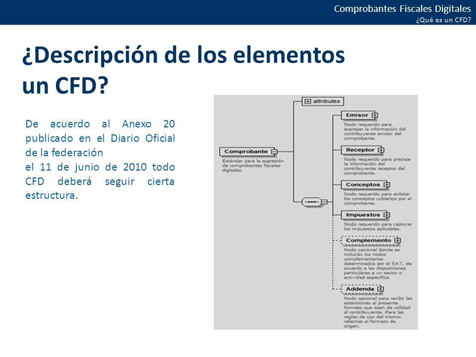 ¿Descripción de los elementos un CFD