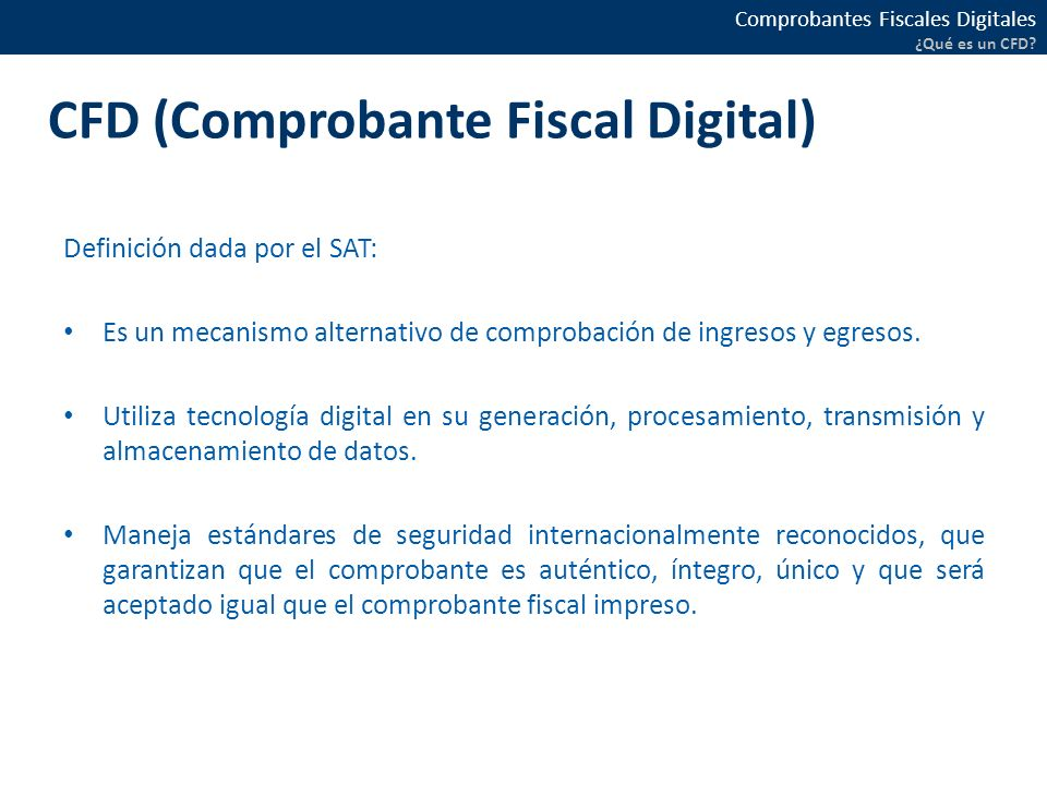 CFD (Comprobante Fiscal Digital)