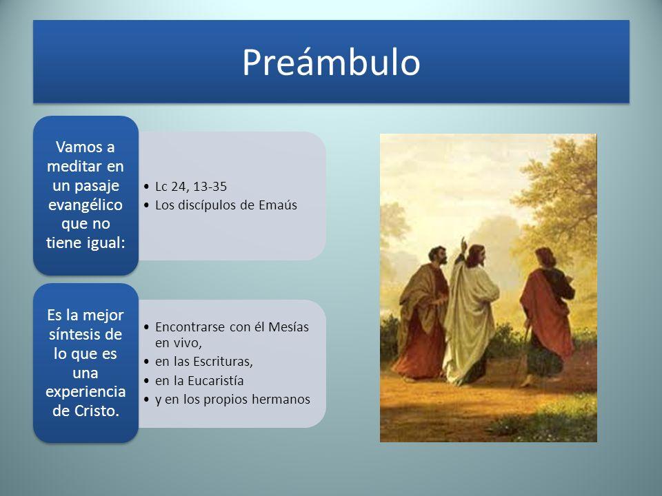 Preámbulo Vamos a meditar en un pasaje evangélico que no tiene igual: