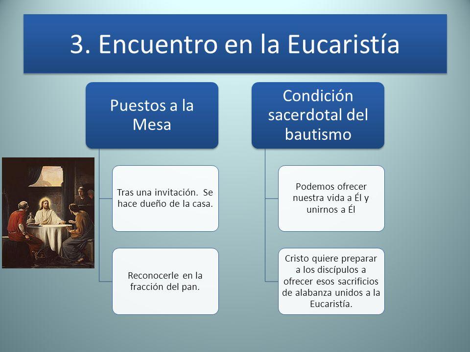 3. Encuentro en la Eucaristía