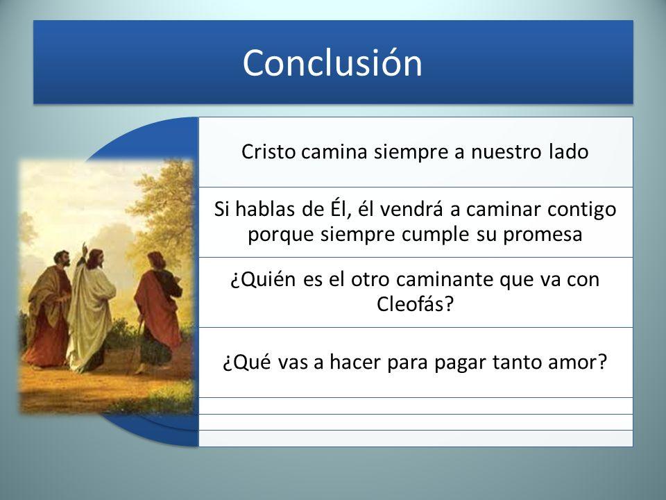 Conclusión Cristo camina siempre a nuestro lado