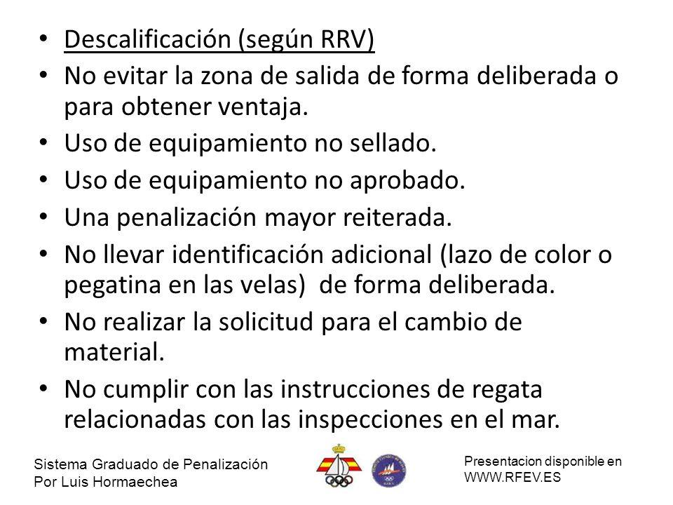 Descalificación (según RRV)