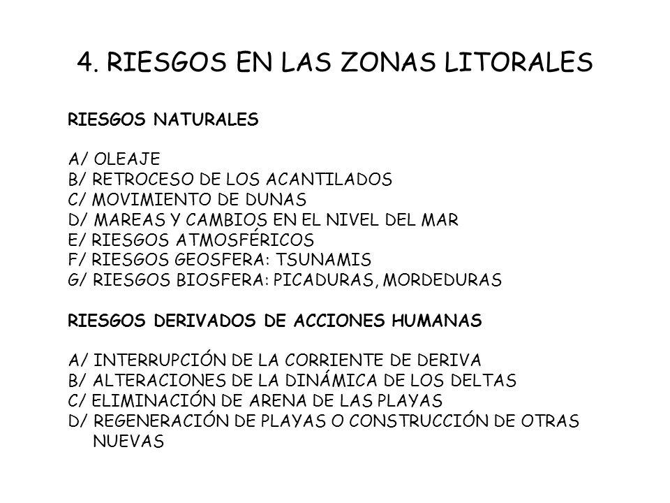 4. RIESGOS EN LAS ZONAS LITORALES
