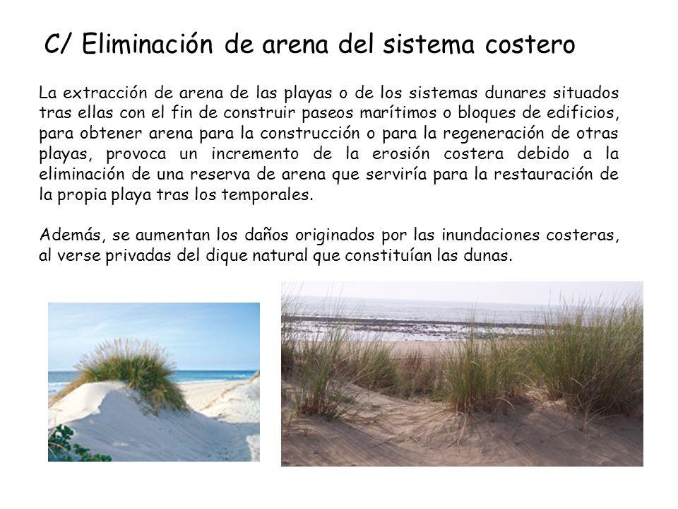 C/ Eliminación de arena del sistema costero