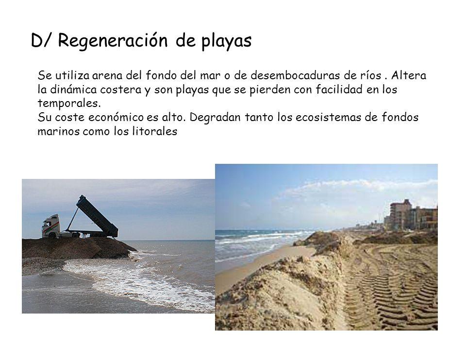 D/ Regeneración de playas