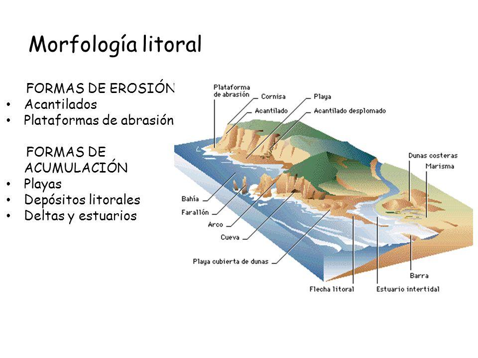 Morfología litoral FORMAS DE EROSIÓN Acantilados