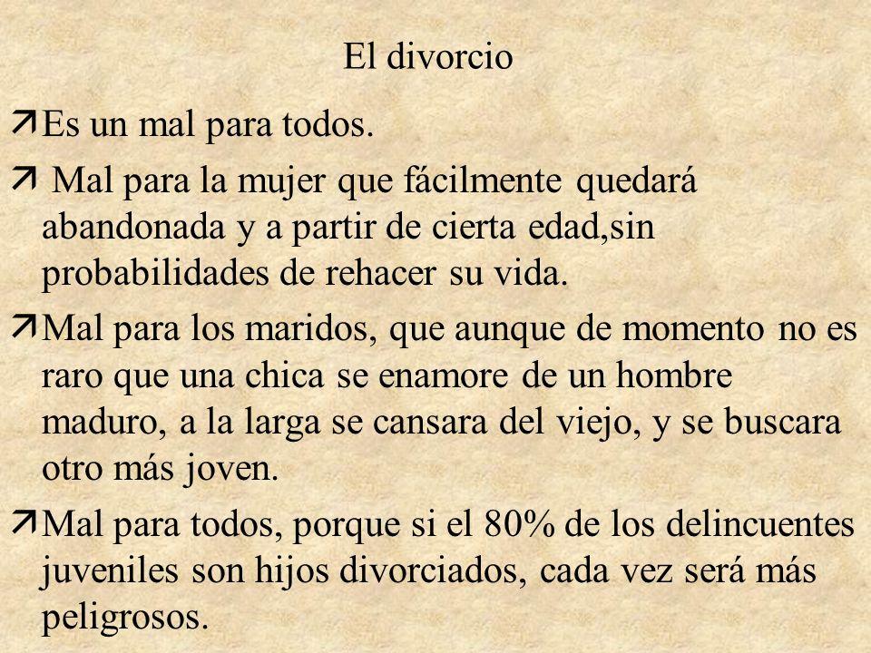 El divorcio Es un mal para todos.