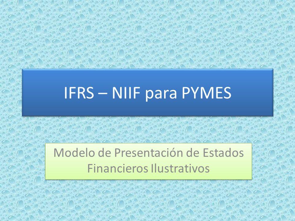 Modelo de Presentación de Estados Financieros Ilustrativos