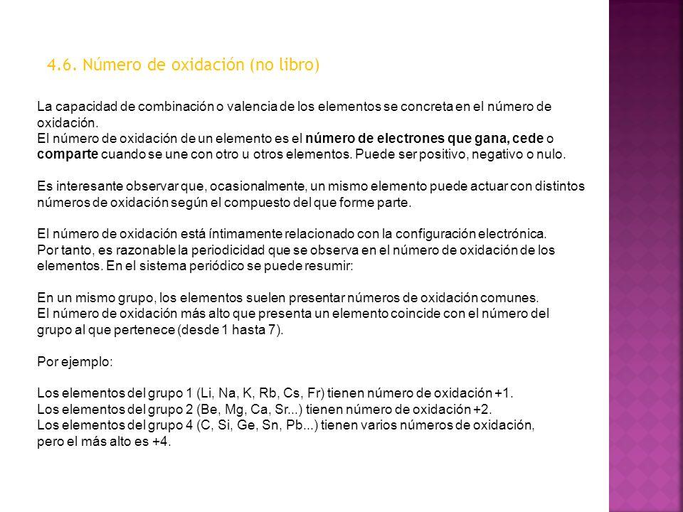 4.6. Número de oxidación (no libro)