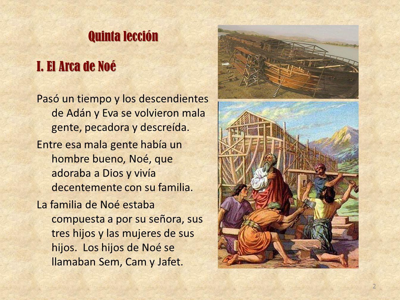 Quinta lección I. El Arca de Noé