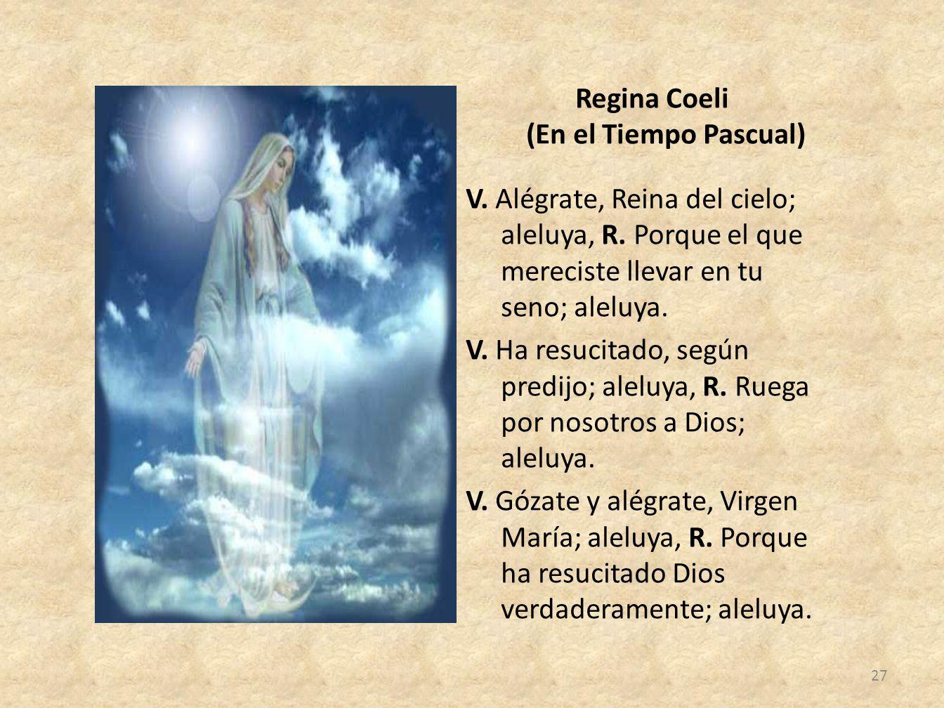 Regina Coeli (En el Tiempo Pascual)