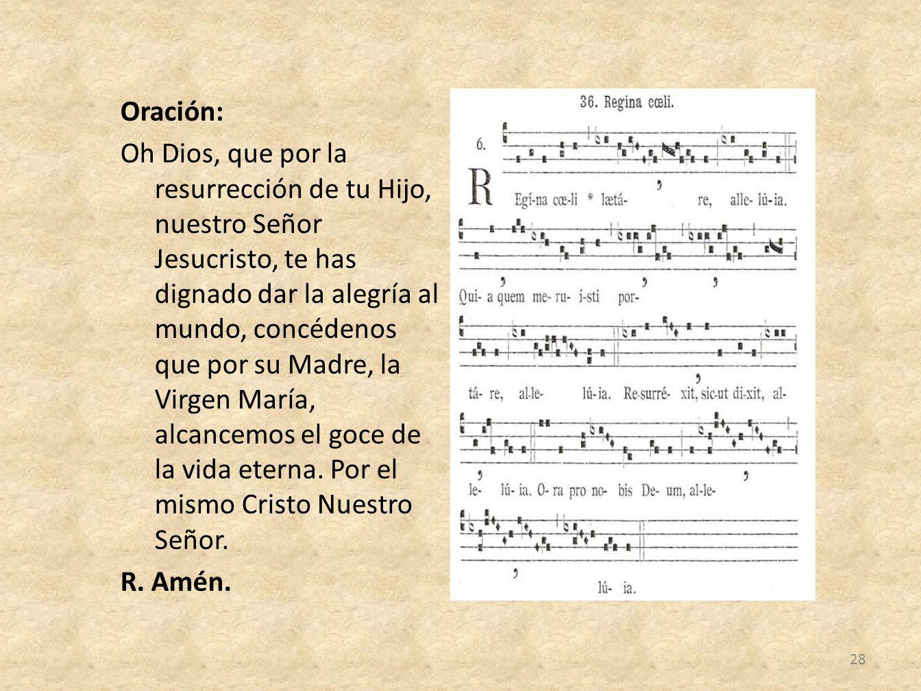 Oración:
