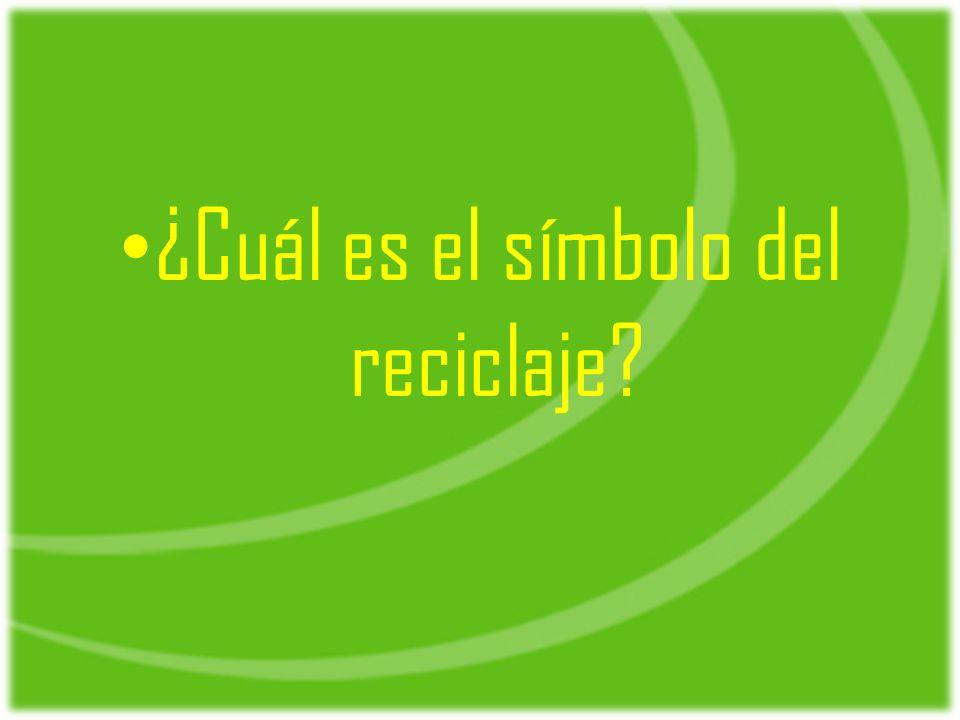 ¿Cuál es el símbolo del reciclaje
