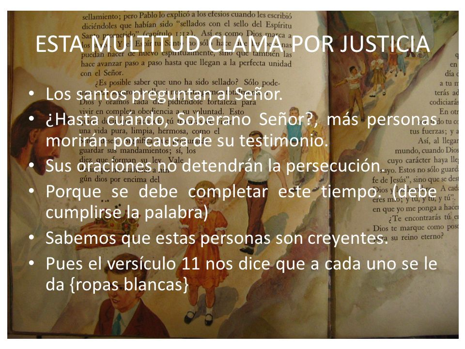 ESTA MULTITUD CLAMA POR JUSTICIA