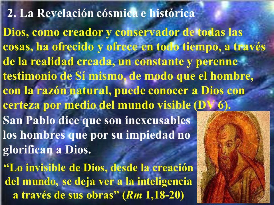 2. La Revelación cósmica e histórica