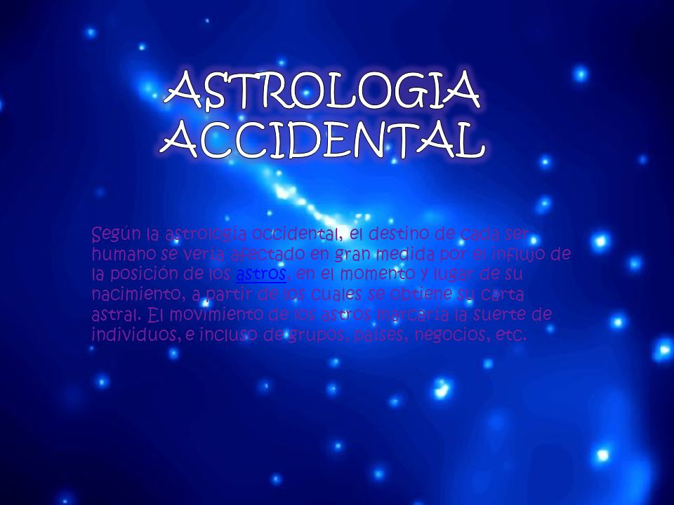 ASTROLOGIA ACCIDENTAL
