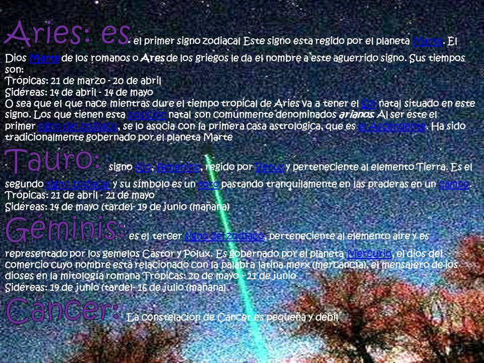 Cáncer: La constelación de Cáncer es pequeña y débil