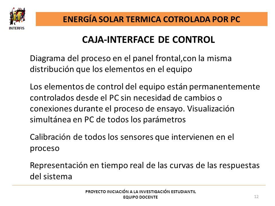 CAJA-INTERFACE DE CONTROL