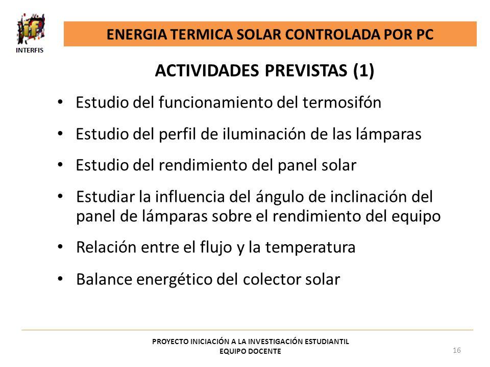 ACTIVIDADES PREVISTAS (1)