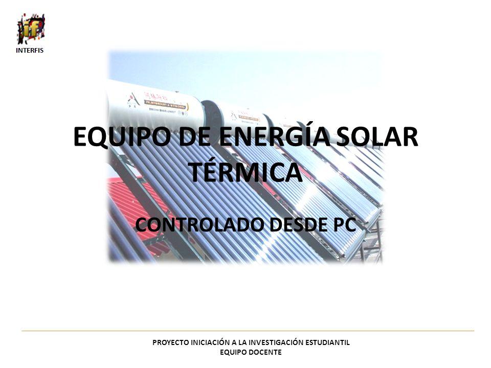 EQUIPO DE ENERGÍA SOLAR TÉRMICA