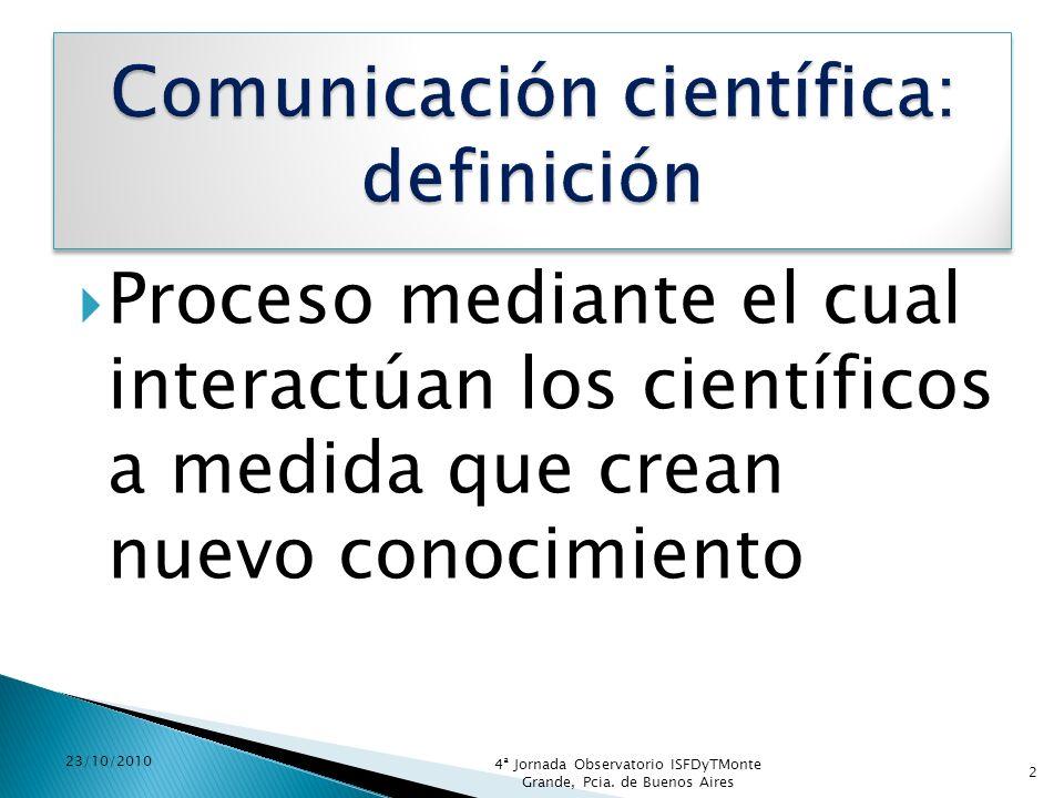 Comunicación científica: definición