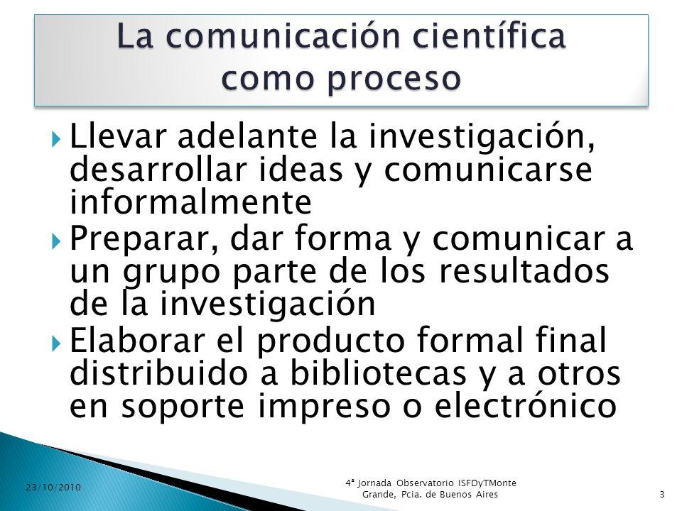 La comunicación científica como proceso