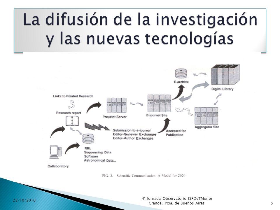 La difusión de la investigación y las nuevas tecnologías