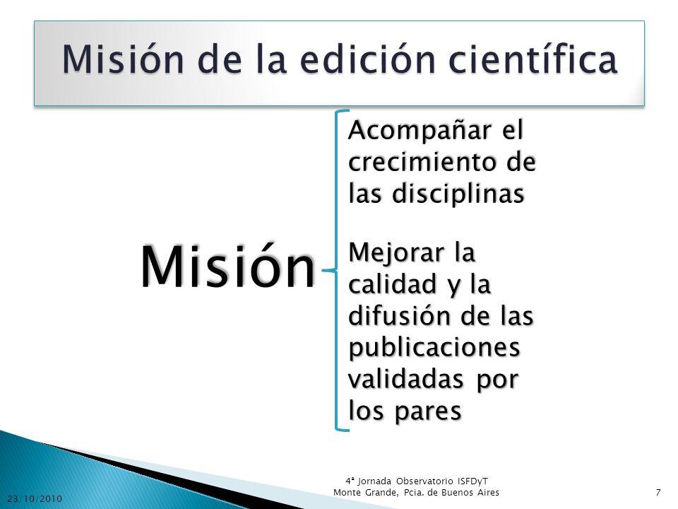 Misión de la edición científica