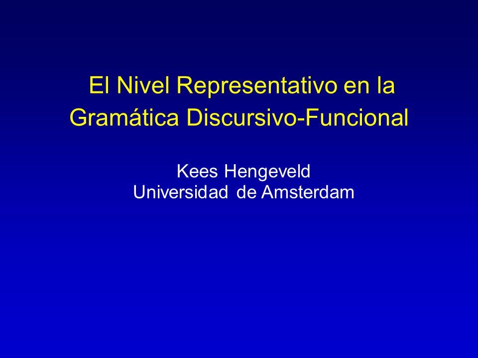 El Nivel Representativo en la Gramática Discursivo-Funcional