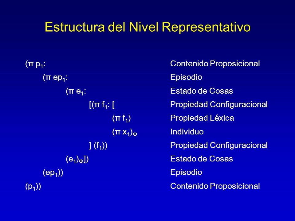 Estructura del Nivel Representativo