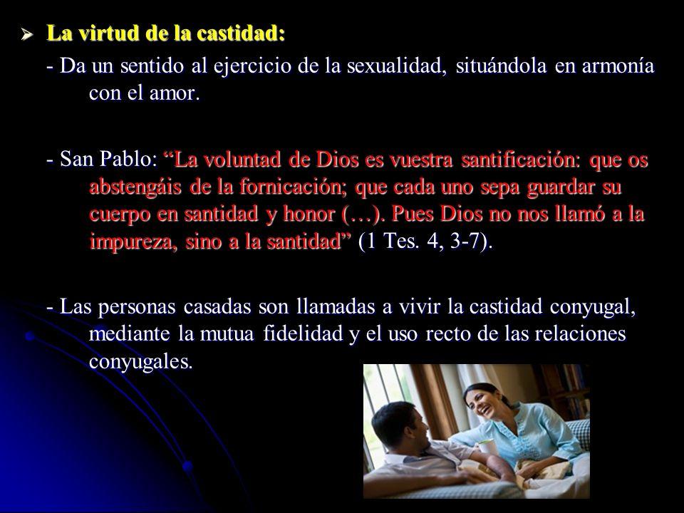 La virtud de la castidad: